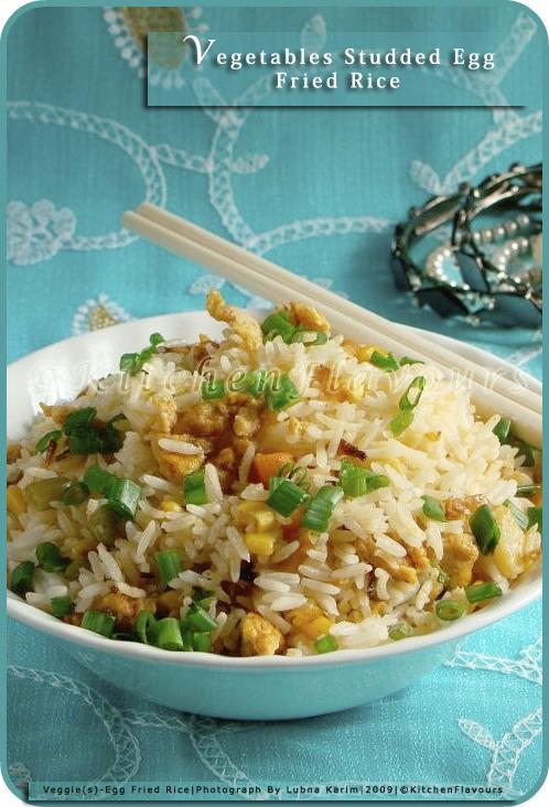 Vegetable Studded Egg Fried Rice