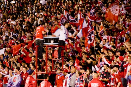 The last moments: Section 8 during the penalty shootout
