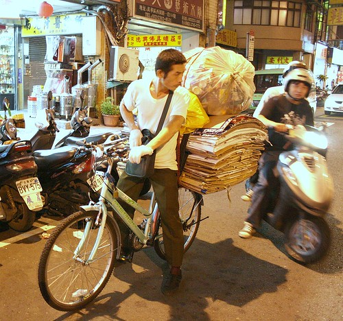 Transporting cardboard