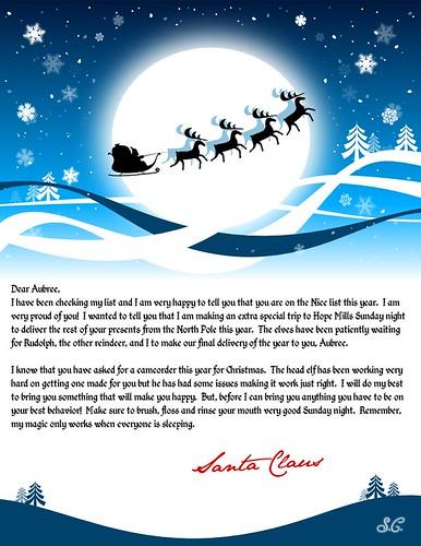 Santa's Letter to Aubree (2009)