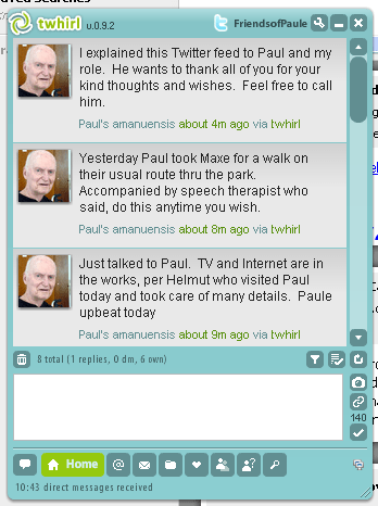 Paul's twitter feed