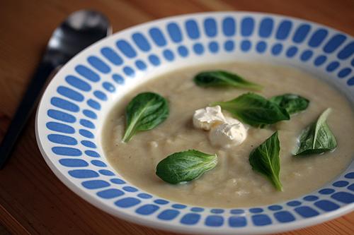 potato leek soup mache