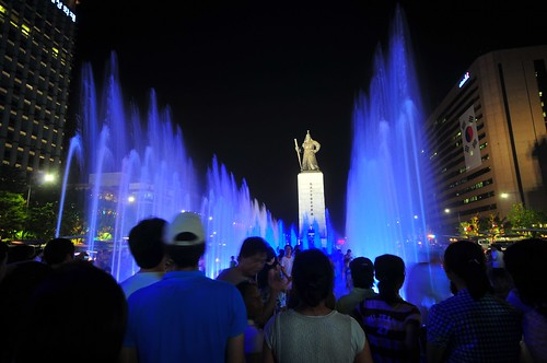 Gwanghwamun Plaza Fountain