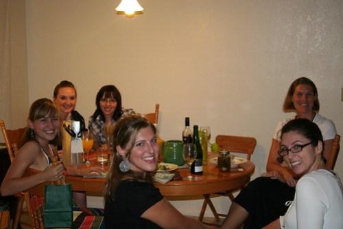 Happy gang of girls