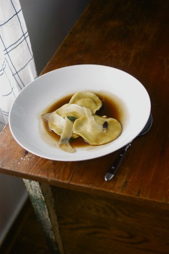 smoked duck breast ravioli at Lara's house