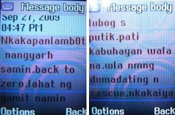 SMS from Survivor