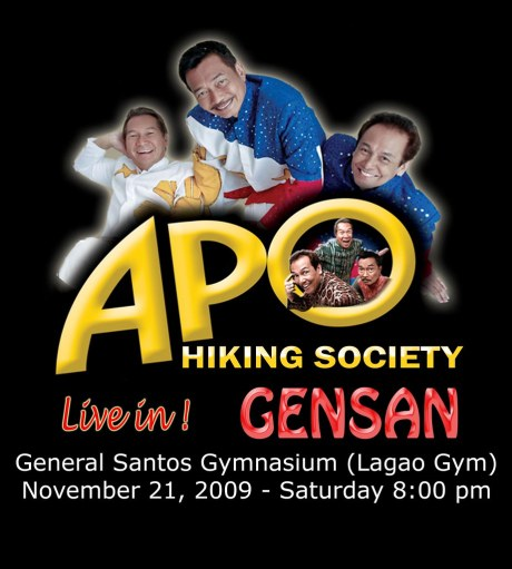 The poster of the APO Hiking Society Live in GenSan Concert