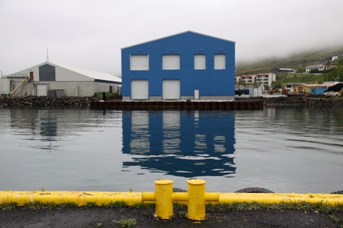Blue Building, Eskifjordur Iceland (by ChrisGoldNY)