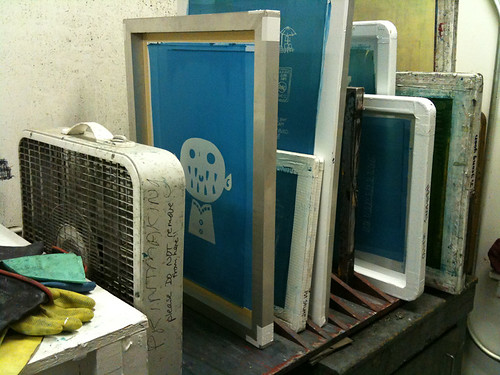 screenprinting class week 2: drying