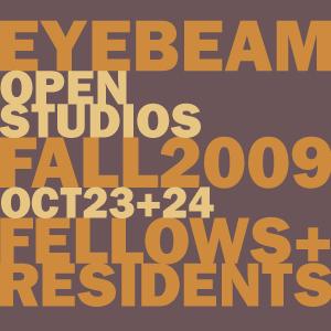 Studio Visits @Eyebeam Oct 23 & 24 3-6PM
