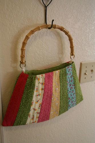 Bamboo handled japanese-styled bag