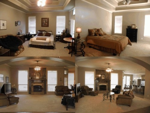 A staged home before and after showmeokc for Staging before and after
