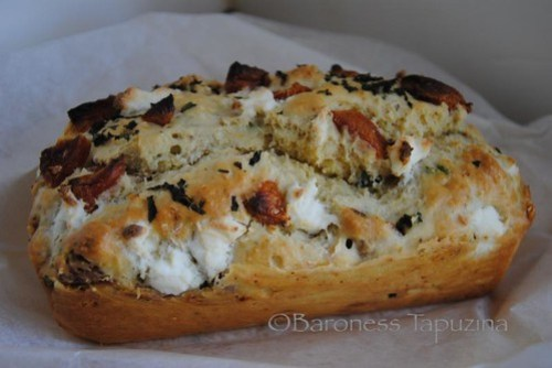 Goat Cheese, Mint and Apricot Quick Bread