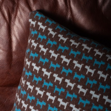 sara carr dog cushion
