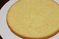 half a sponge cake