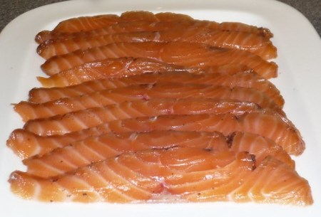 home cured salmon