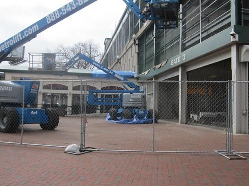 Wrigley Field Work: Scaffolding at Gate D