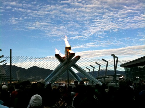 Olympic Cauldron on final day