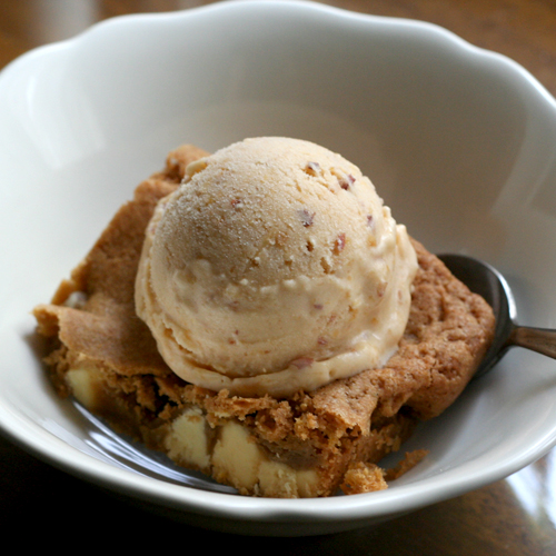 peach & ginger ice cream blondie