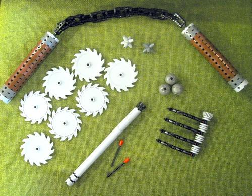 LEGO Aaron ninja weapons