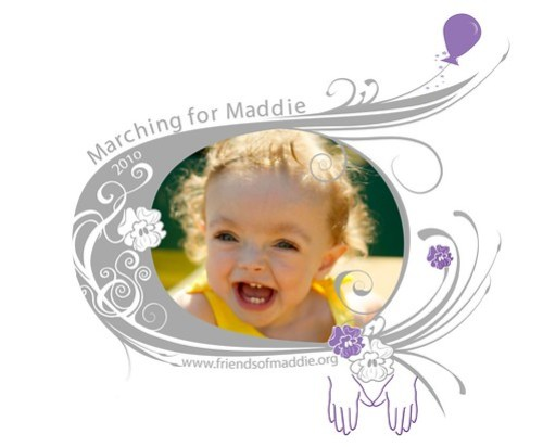 Marching for Maddie 2010 Shirt Design