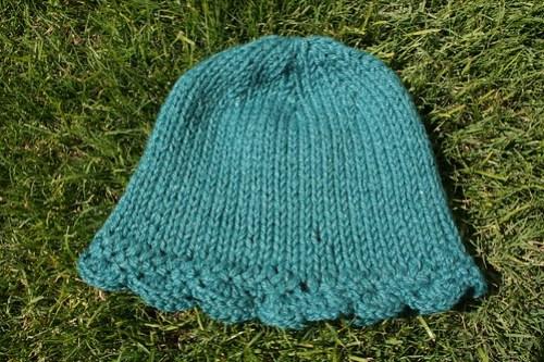 knitting/crocheted bell cap for Tiff