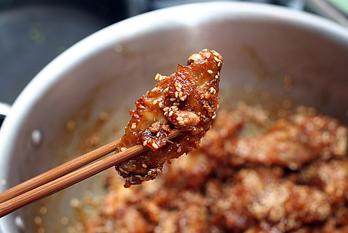 crispy Korean chicken wings