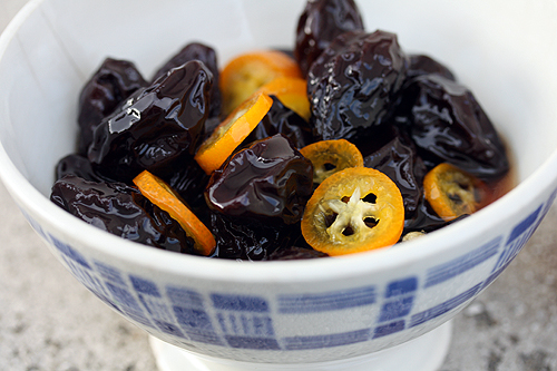 prunes and kumquats