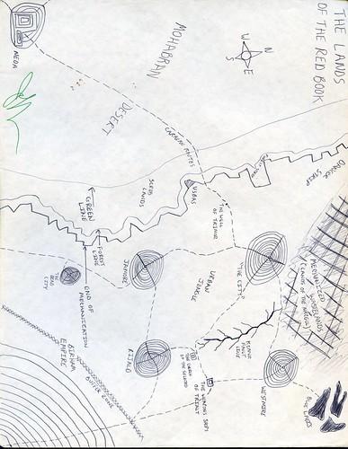 The Lands of the Red Book map, Jeff VanderMeer, With a Little Help ephemera.jpg