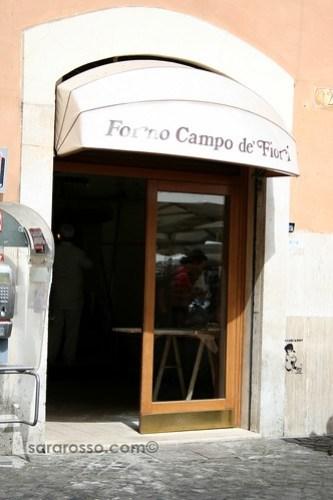 Forno Campo de Fiori, Rome, Italy