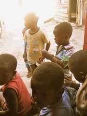Local Xhosa boys outside the prayer house