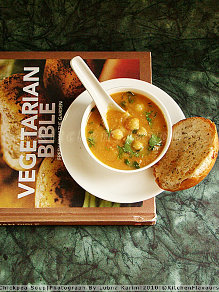 Chickpea Soup With Recipe Book