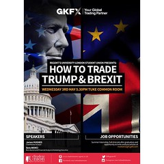 Next Wednesday we have a great Academic Event: How to Trade Trump & Brexit! 💪✋The speakers are super interesting plus there will be 3 JOB OPPORTUNITIES given: summer internship, full-time job after graduation and opportunity to write articles