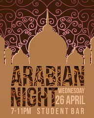 Come this evening to Arabian Night at 7pm! There's gonna be Arabian food and music all night long! Don't miss it!! ✨🙌✨#london #regents #rul #arabian #night