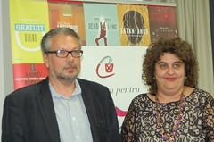 Întâlnirea cu scriitorul meu favorit, Mihail Șișkin, venit în România la lansarea romanului Părul Venerei, București, 3 octombrie 2013