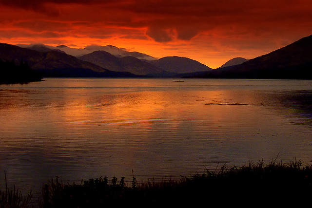 Sunset on Loch Linnhe, Scotland