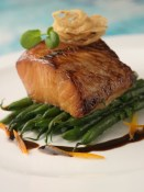 sablefish caramelized with soy and sake