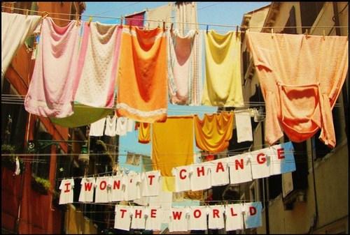 I won't change the world....
