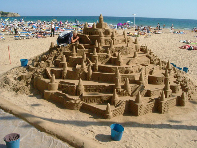 Sand Sculpture: Castle