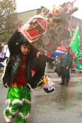 A Soggy Chinese New Year Parade