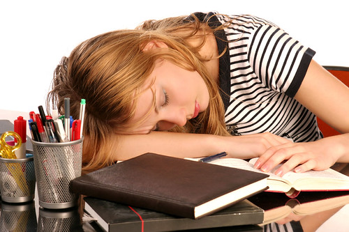 Sleeping student