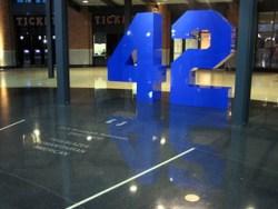 Jackie Robinson's 42 at Citi Field June 10, 2009. David Berkowitz/Flickr.