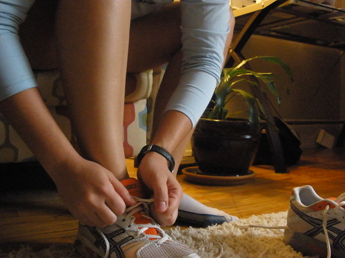 Sometimes putting on your shoes is the hardest part of the workout.