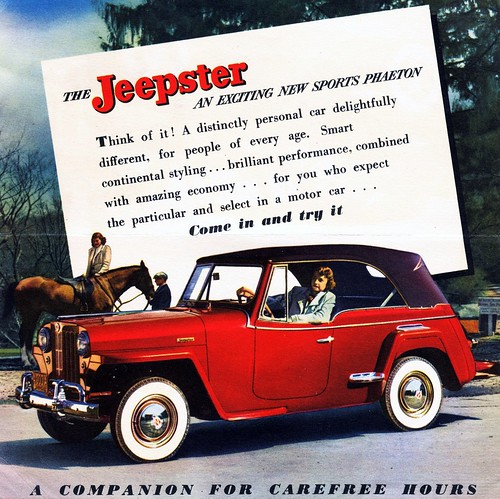 1948 Willys Jeepster Announcement