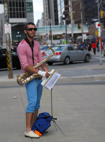 Street Artist at Nathan Philip Square, 2009 Toronto Jazz Festival