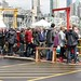 Spot Prawn Festival - The line up to get down to the dock for purchasing