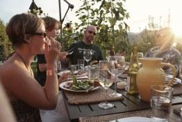Heidi, James, Michael, and Craig at table