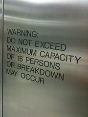 Warning: Do not exceed maximum capacity!