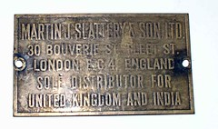 Plaque for Elrod machine