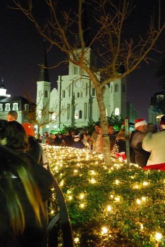 Caroling in Jackson Square